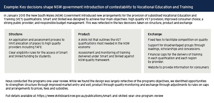 Key decisions shape NSW government introduction of contestability to Vocational Education and Training
